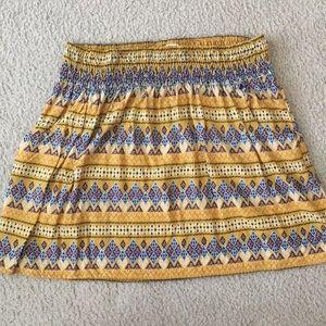 Mossimo Golden yellow tribal pattern skirt